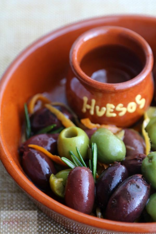 Marinated Olives in Spanish Dish