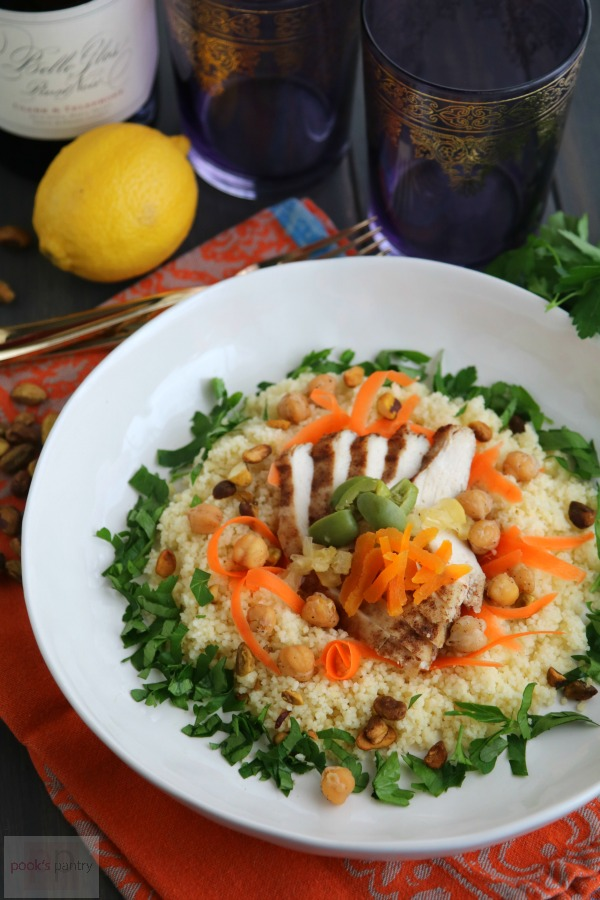 Moroccan Chicken over Cous Cous | Pook's Pantry