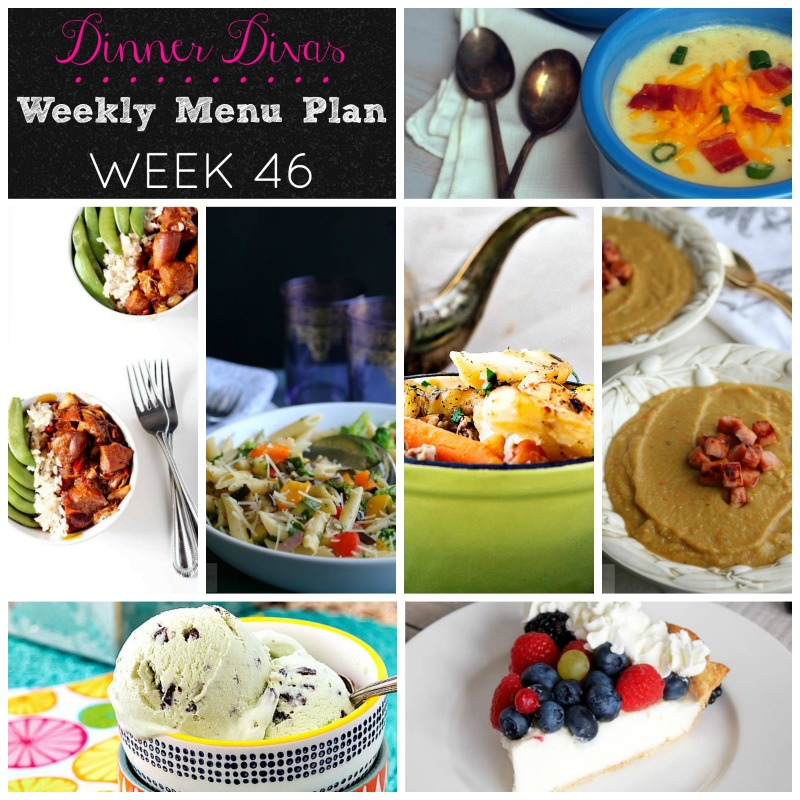 Dinner Divas Weekly Menu