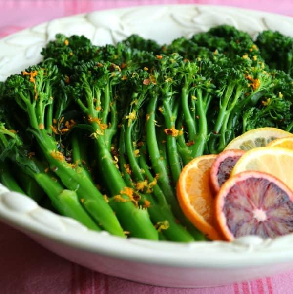 Spicy Sauteed Broccolini with Citrus Vinaigrette