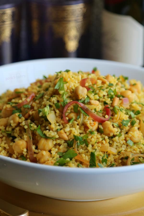 Warm Bulgur Wheat Salad with Chickpeas
