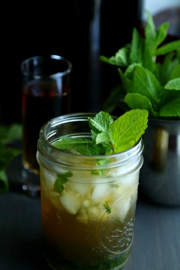 Mint Julep Kombucha Cocktail