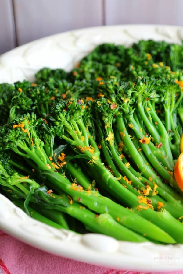 sauteed broccolini in bowl