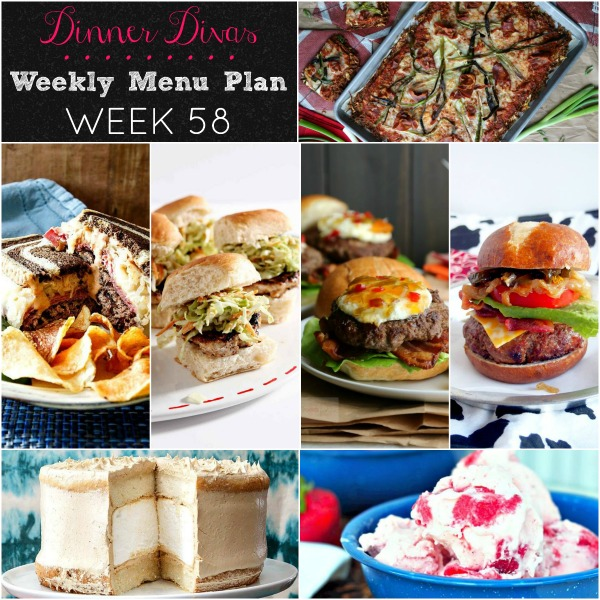 dinner divas weekly menu plan 58