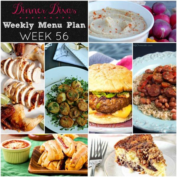 Dinner Divas Weekly Menu Plan