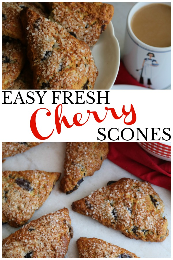 A recipe for fresh cherry scones that looks pretty, tastes good, holds together without being too dense and please, oh please, let the cherries be the star