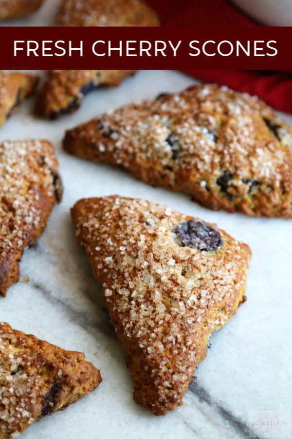 fresh cherry scone recipe