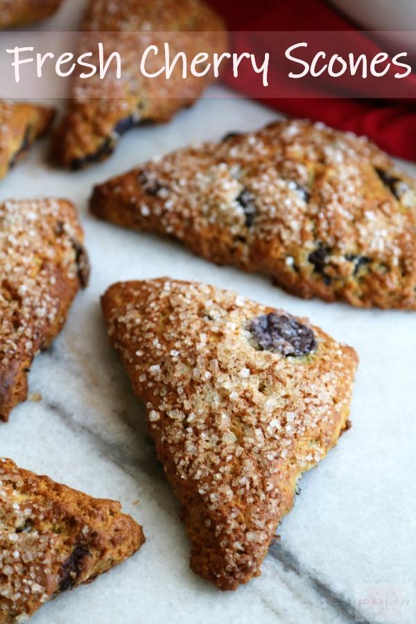cherry scone recipe with sanding sugar