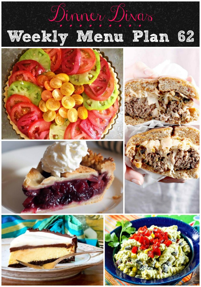Dinner Divas Weekly Menu Plan is back with another week's worth of recipes.  The temps are climbing and we're doing more grilling and lighter meals as it gets warmer by the day.  This week, we have some tasty burgers and light dinners to get you through the week.