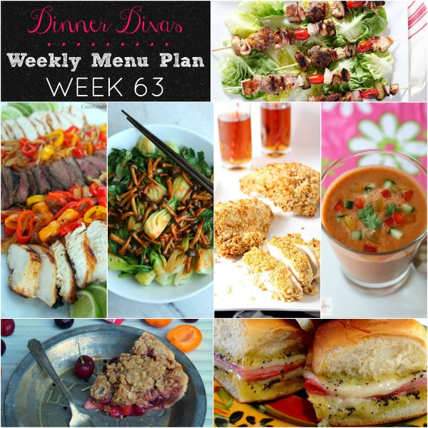 dinner divas weekly menu plan 63