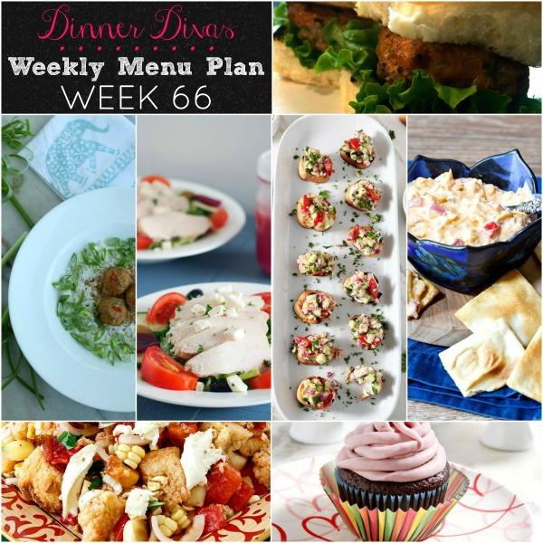 Dinner Divas Weekly Menu 66
