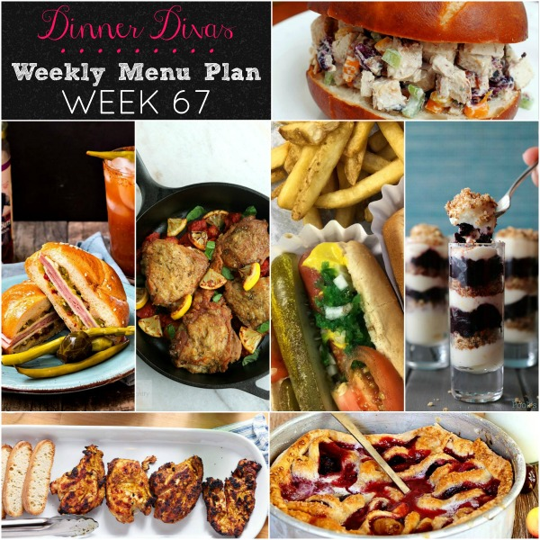Dinner Divas Weekly Menu Plan 67