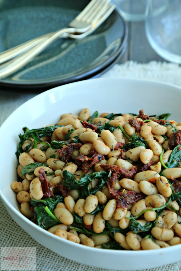 White beans with arugula