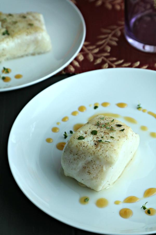 Seared Halibut with Gastrique