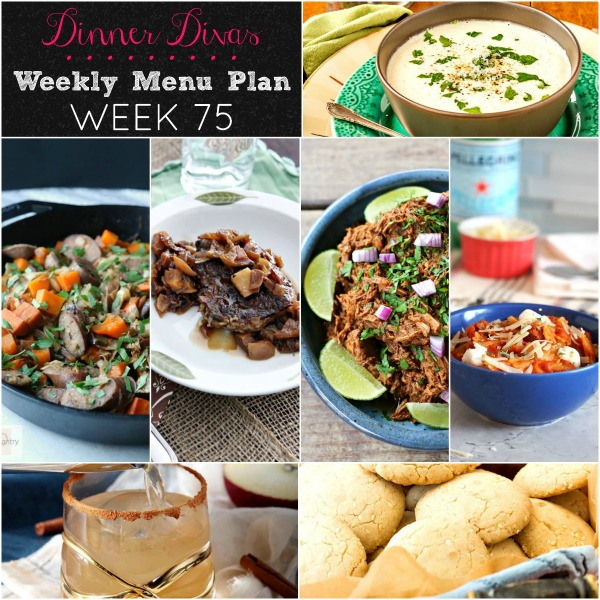 Dinner Divas Weekly Menu 75