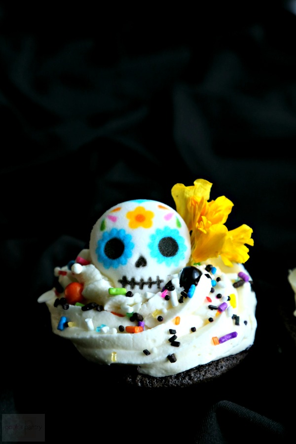 Day of the Dead Chocolate Cupcakes