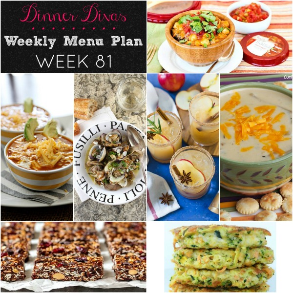 Square collage of dinner divas weekly menu