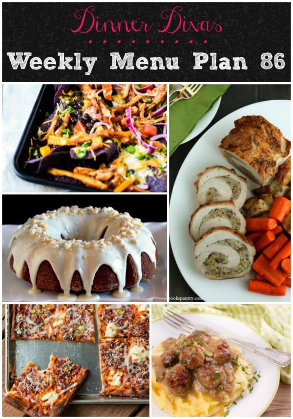 pin collage for dinner divas weekly menu plan 86