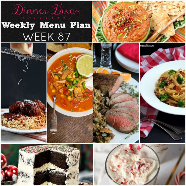 collage of pics for week 87 dinner divas