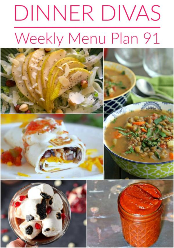 photo collage for dinner divas weekly menu plan