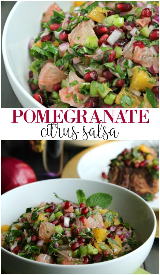 pomegranate citrus salsa pin image