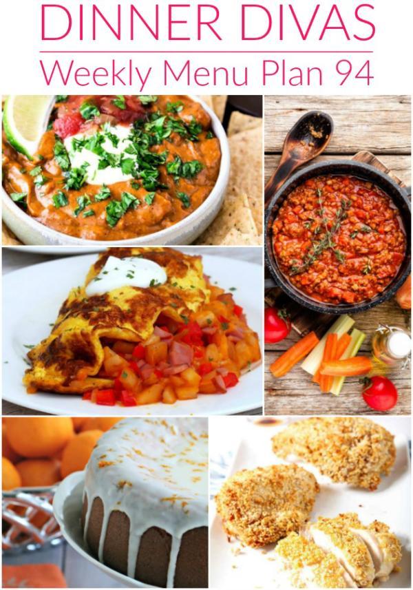 collage of images for dinner divas week 94