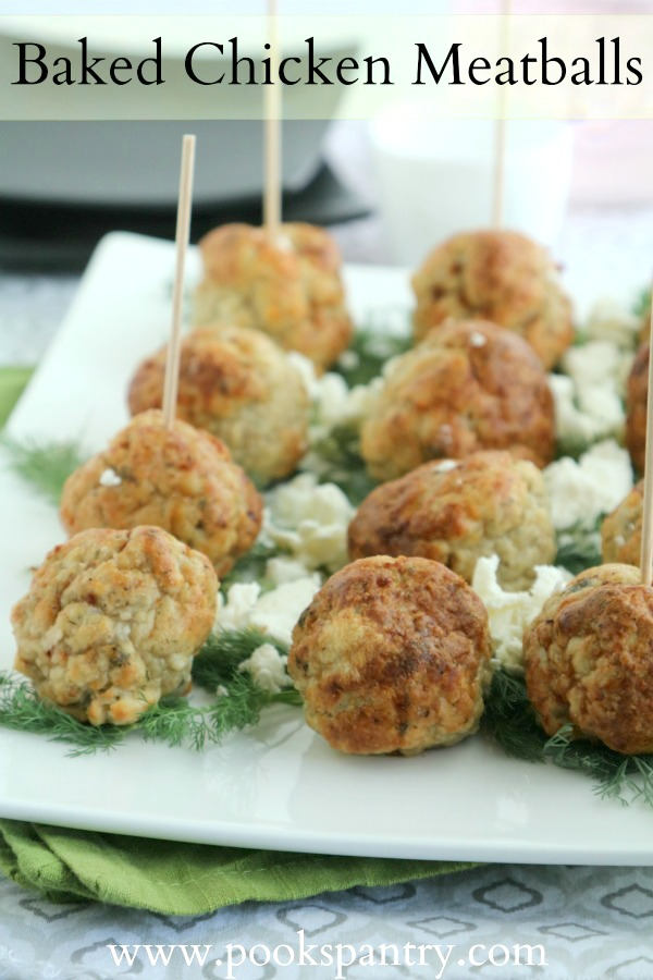 chicken meatballs on white platter