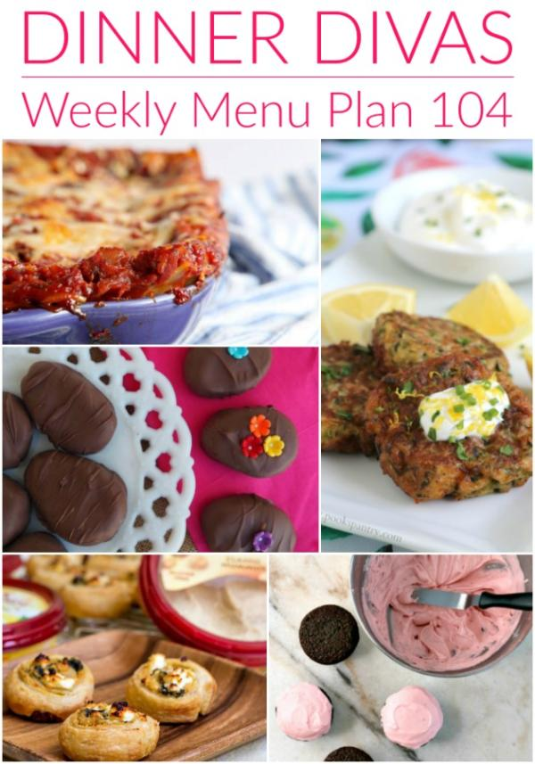dinner divas weekly menu 104