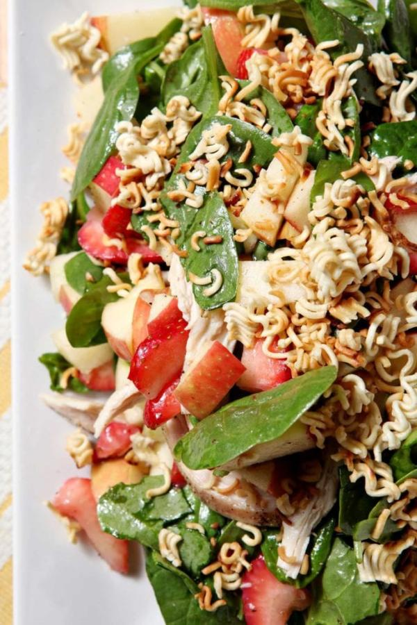 Chicken, Strawberry and Apple Summer Salad