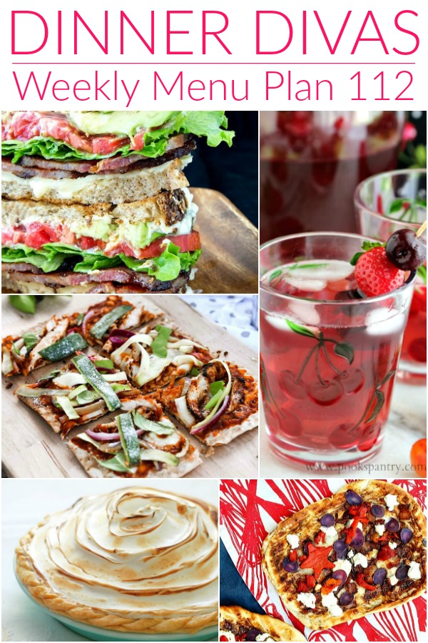 collage of weekly menu images for pinterest