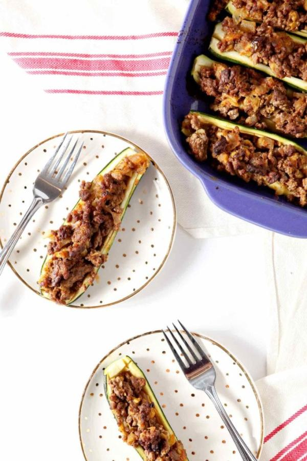 Whole30 Taco Zucchini Boats