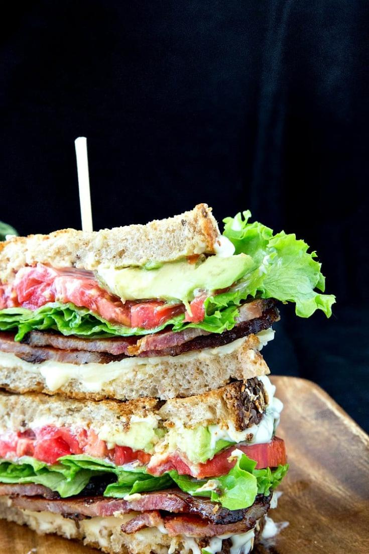 Gourmet BLT Sandwich with Cheddar and Avocado