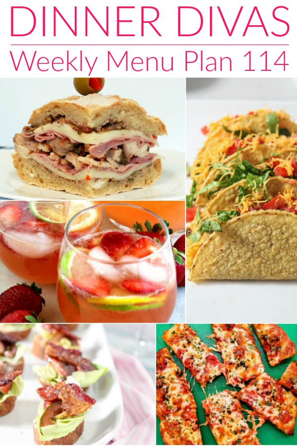 collage of images for dinner divas week 114