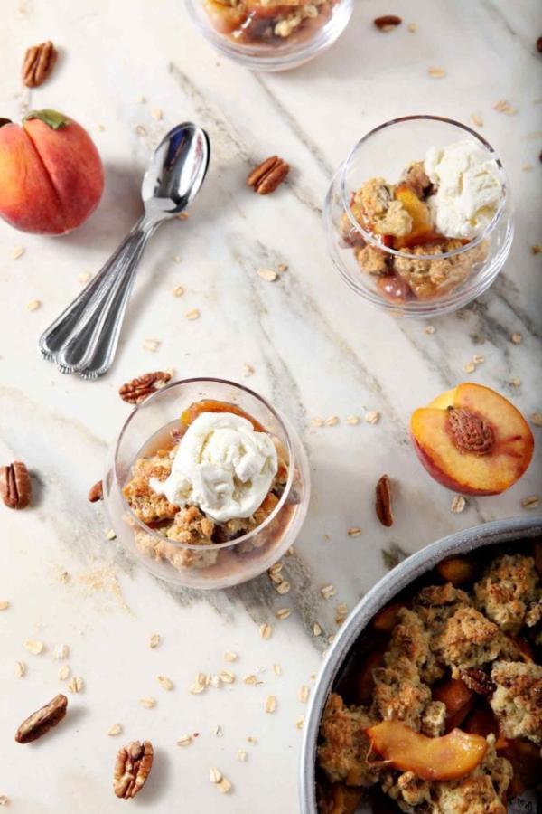 Dairy Free Peach Cobbler