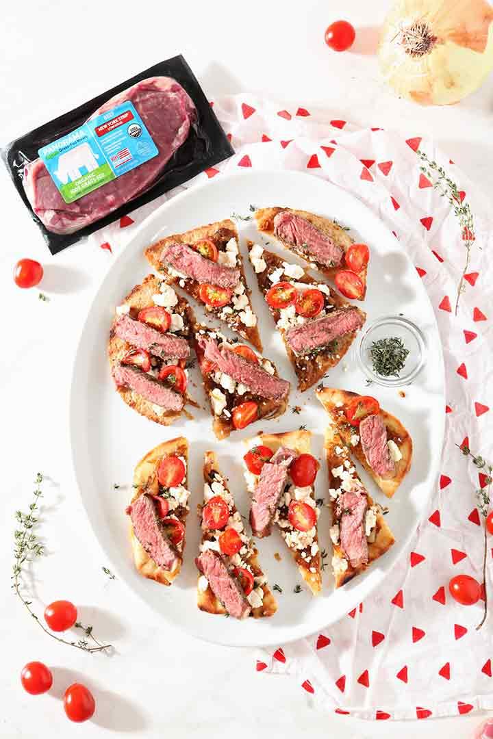 Grilled Steak Flatbread Pizza Recipe