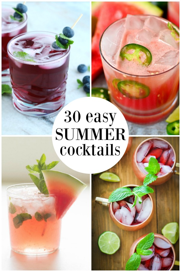pin image for easy summer cocktails