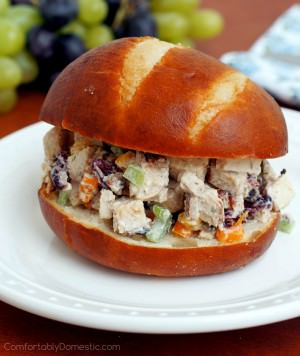 Light Chicken Salad w/ Lemon Dill Yogurt Dressing