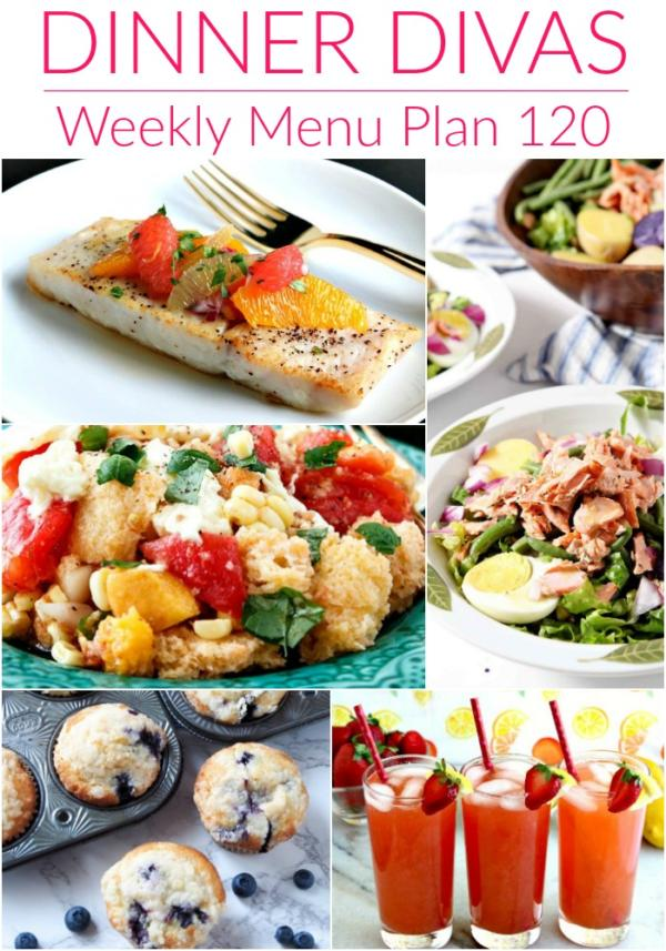 collage of images for menu plan 120