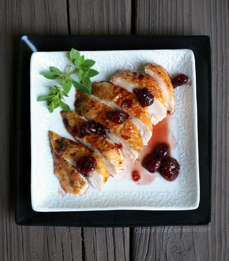 Roast Chicken with Cherry Balsamic Glaze