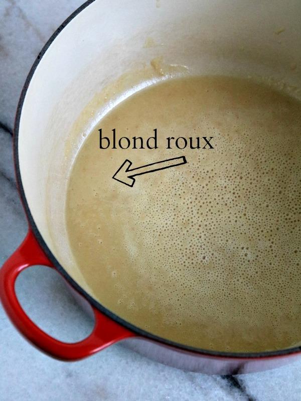 blond roux in dutch oven