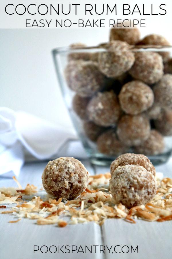 no bake coconut rum balls