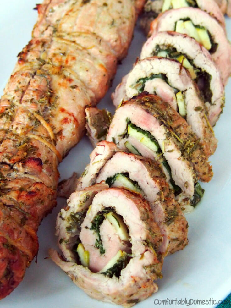 Rosemary Pesto Pork Roulade
