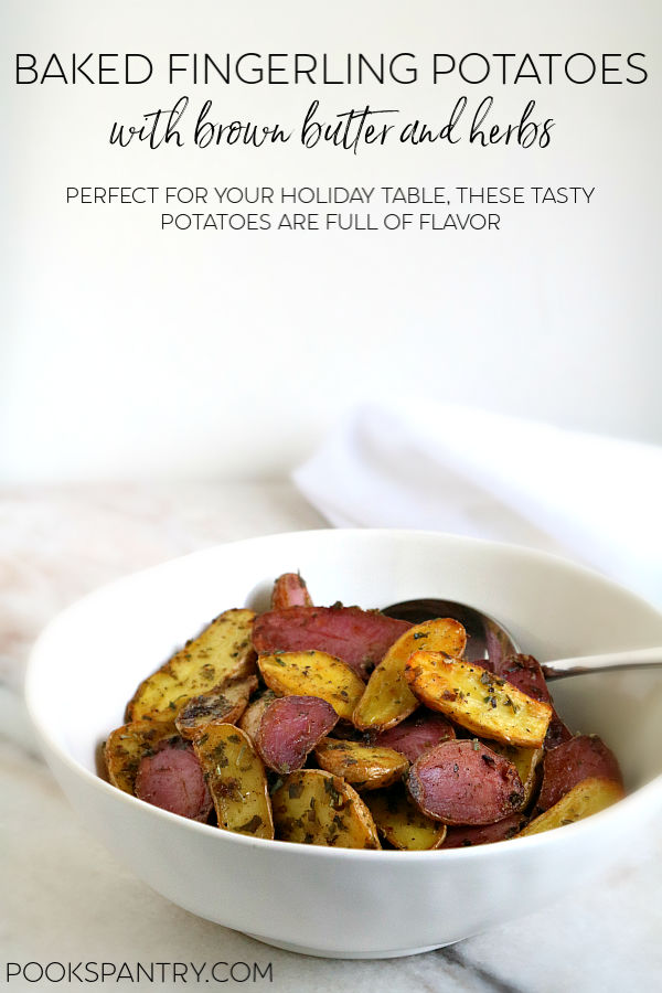 Perfect for your holiday table, these tasty potatoes are full of flavor from nutty brown butter and a mixture of dried herbs