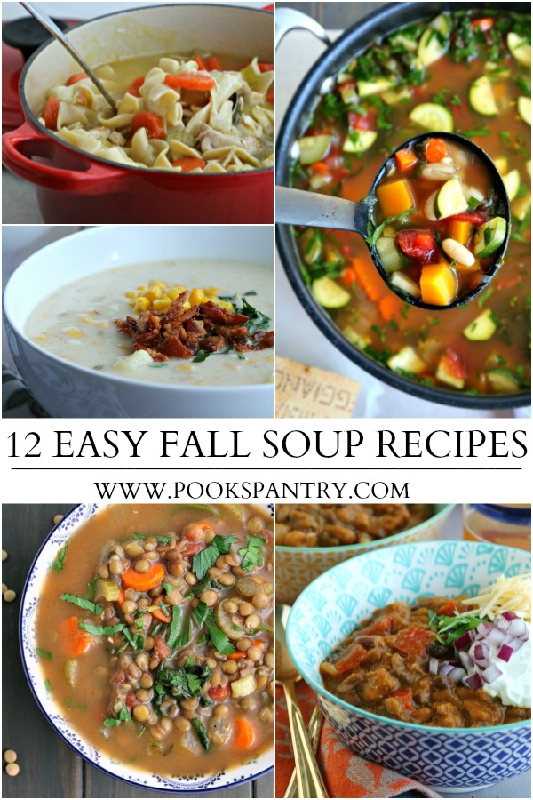 collage of easy soup recipes