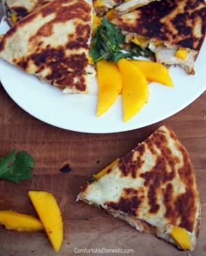Mango Chicken Quesadillas with Brie