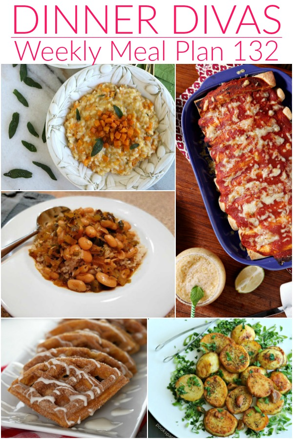 collage of images for dinner divas meal plan
