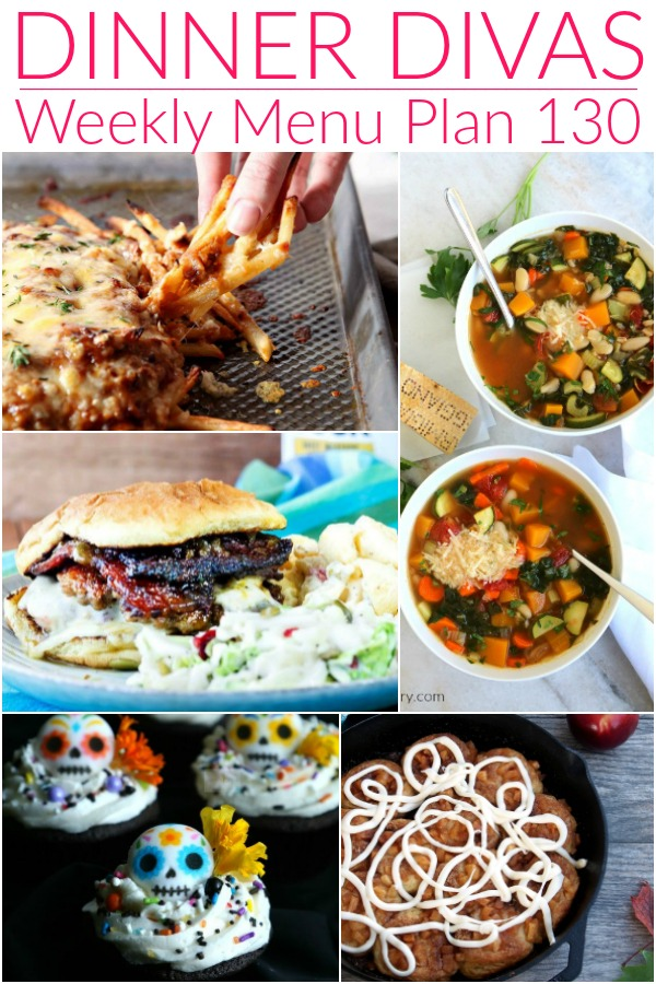 collage of images for weekly meal plan 130