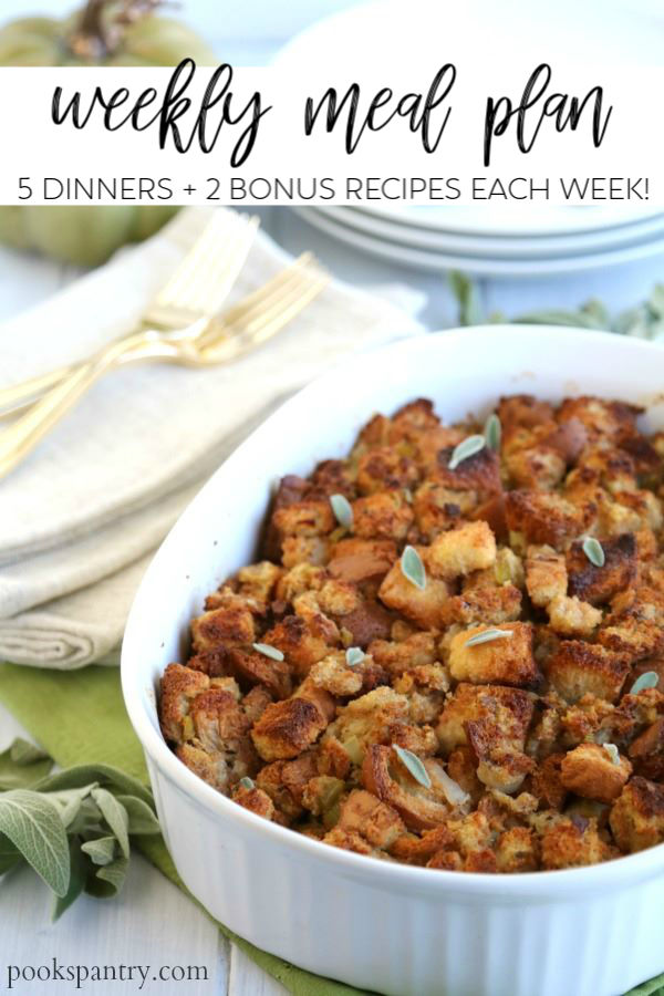 dinner divas meal plan provides 5 dinner recipes each week