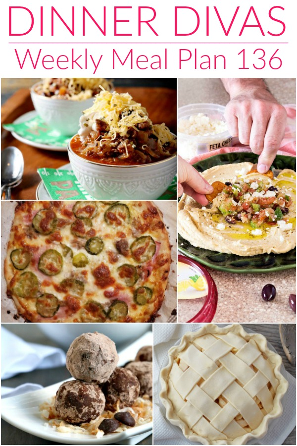 collage of images for dinner divas weekly meal plan