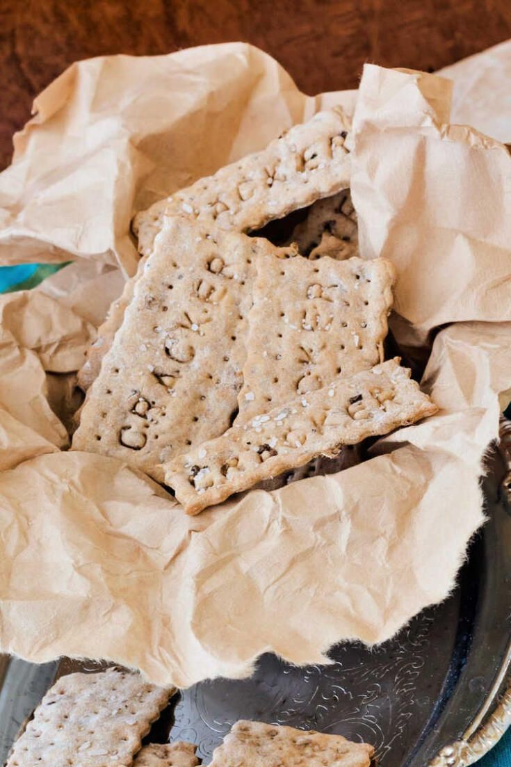 How to Make Spent Grain Crackers | Spent Grain Soda Crackers